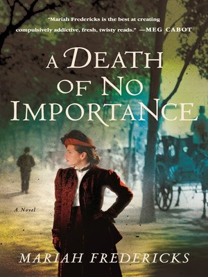 cover image of A Death of No Importance--A Novel