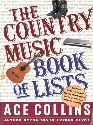 cover image of The Country Music Book of Lists