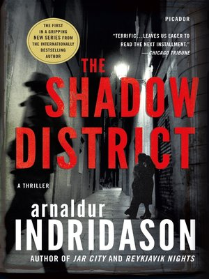 cover image of The Shadow District--A Thriller