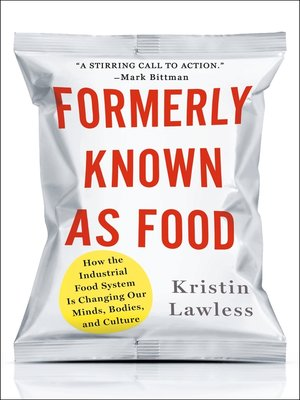 cover image of Formerly Known As Food