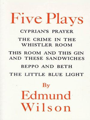 cover image of Five Plays