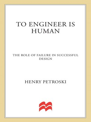 cover image of To Engineer Is Human