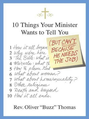 cover image of 10 Things Your Minister Wants to Tell You