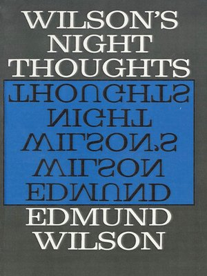 cover image of Wilson's Night Thoughts
