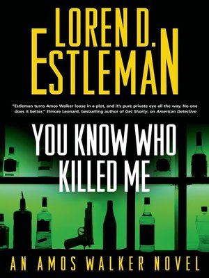 cover image of You Know Who Killed Me