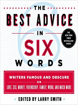 cover image of The Best Advice in Six Words