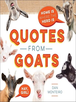 cover image of Quotes from Goats
