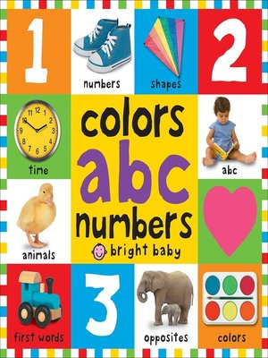 cover image of Big Board Books Colors, ABC, Numbers