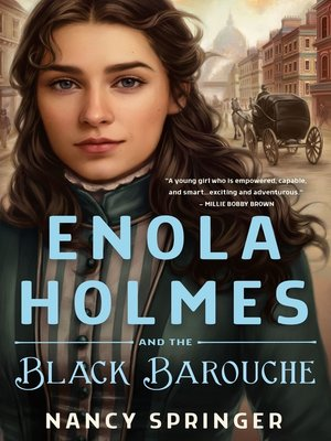 cover image of Enola Holmes and the Black Barouche