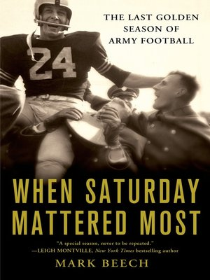 cover image of When Saturday Mattered Most