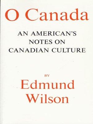 cover image of O Canada