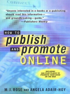 cover image of How to Publish and Promote Online