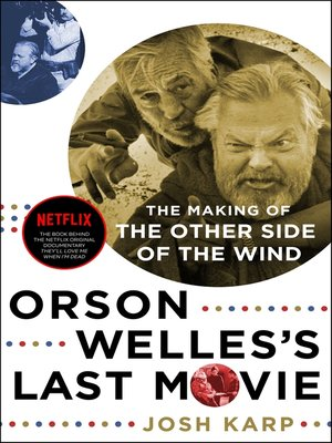 cover image of Orson Welles's Last Movie