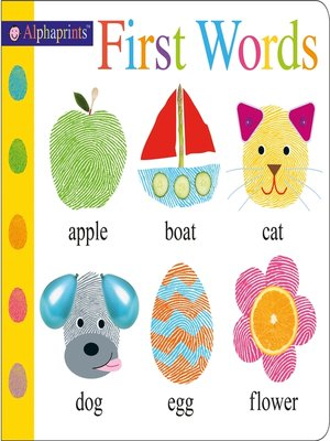 cover image of Alphaprints First Words