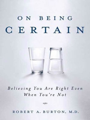 cover image of On Being Certain