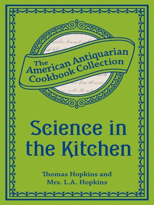 cover image of Science in the Kitchen