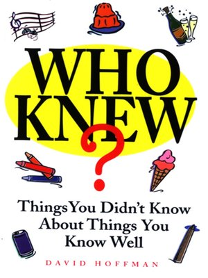 cover image of Who Knew?