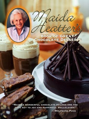 cover image of Maida Heatter's Book of Great Chocolate Desserts