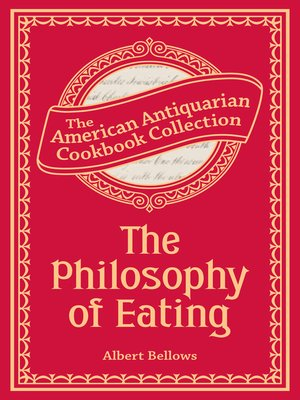 cover image of The Philosophy of Eating