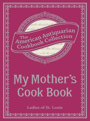 cover image of My Mother's Cook Book