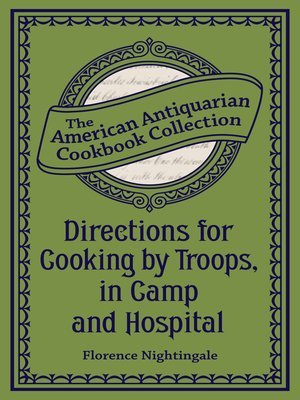 cover image of Directions for Cooking by Troops, in Camp and Hospital