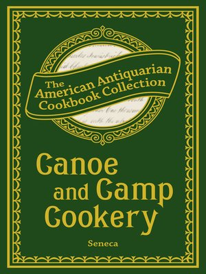 cover image of Canoe and Camp Cookery