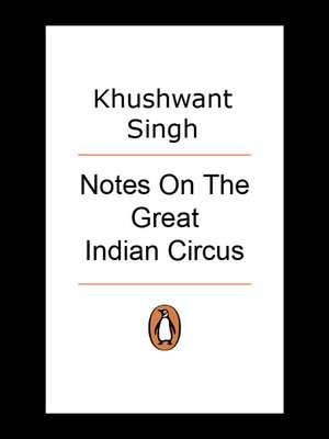 cover image of Notes On the Great Indian Circus