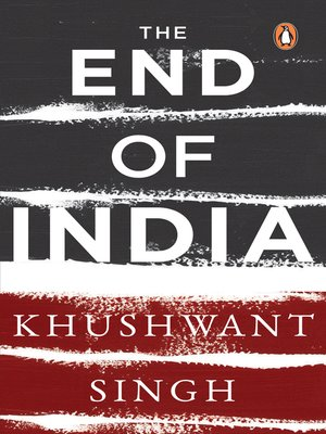 cover image of The End of India