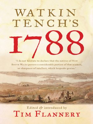 cover image of Watkin Tench's 1788