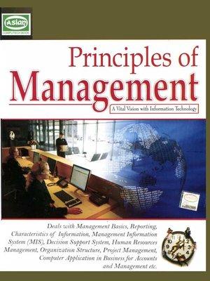 Principles of Management by Vishnu P  Singh · OverDrive (Rakuten