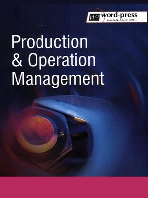 Ebook Production And Operation Management
