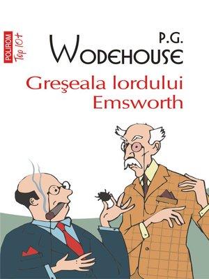cover image of Greseala lordului Emsworth