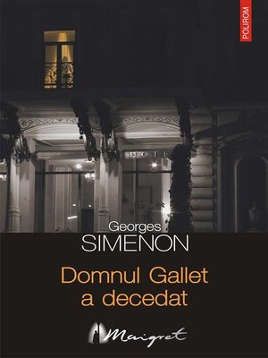 cover image of Domnul Gallet a decedat