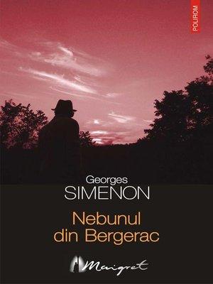 cover image of Nebunul din Bergerac