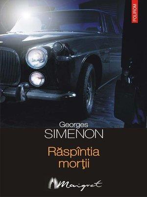 cover image of Răspîntia morții