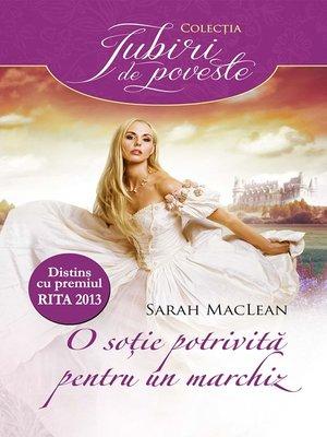 cover image of O soție potrivită pentru un marchiz