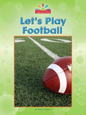 cover image of Let's Play Football