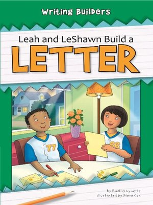 cover image of Leah and LeShawn Build a Letter