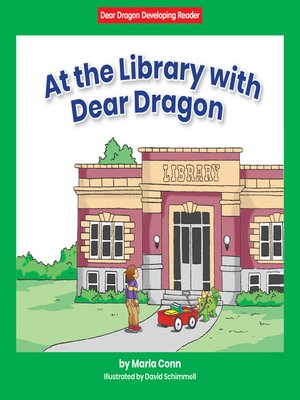 cover image of At the Library with Dear Dragon