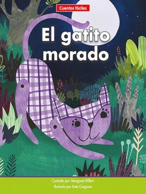 cover image of El gatito morado