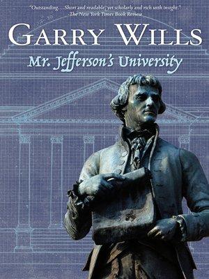 cover image of Mr. Jefferson's University