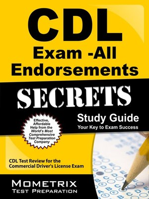 cover image of CDL Exam Secrets - All Endorsements Study Guide