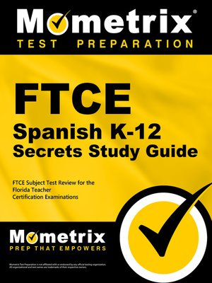 cover image of FTCE Spanish K-12 Secrets Study Guide