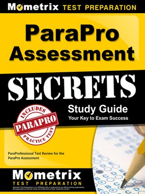cover image of ParaPro Assessment Secrets Study Guide
