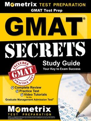 cover image of GMATTest Prep:GMATSecrets Study Guide