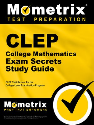 cover image of CLEP College Mathematics Exam Secrets Study Guide
