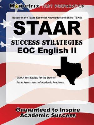 staar success strategies eoc english ii study guide by staar exam rh overdrive com Math Practice STAAR Master STAAR Bulletin Boards