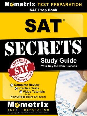 cover image of SAT Prep Book: SAT Secrets Study Guide