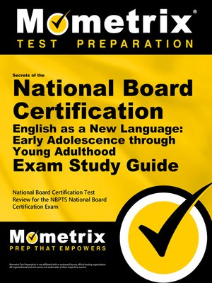 cover image of Secrets of the National Board Certification English as a New Language: Early Adolescence through Young Adulthood Exam Study Guide