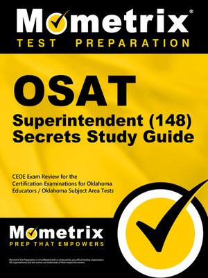 cover image of OSAT Superintendent (148) Secrets Study Guide